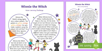 EYFS Home Learning Challenge Sheet Nursery FS1