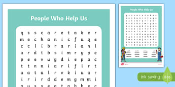 People Who Help Us Word Search-Irish