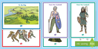 Tír na nÓg key vocabulary Display Posters - ROI Tír na nÓg resources, Ireland, myths and legends, Oisín, Niamh, Fionn, Na Fianna, History,Iri