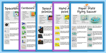 Space Craft Activity Pack - science, space, activities, crafts