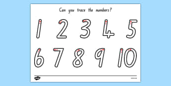 Number Formation 1-10 Worksheet NZ - nz, new zealand, worksheets, numbers, practice, overwriting