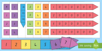 Place Value Arrow Cards - New Zealand, maths, place values, arrows, Years 1-3