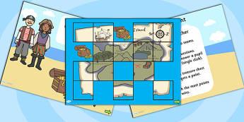 Treasure Hunt Quiz PowerPoint Template - treasure hunt, quiz, powerpoint, quiz powerpoint, template, powerpoint template, quiz template, information