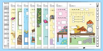 Year 1 Maths Quiz Challenge 2 Activity Sheet Pack, worksheet