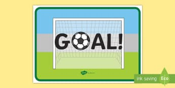 Goal Display Poster - display, poster, goal, football, themed