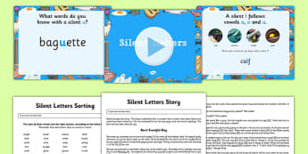 Silent Letters Activity Pack - silent letters, activity pack, activity, pack, silent, letters