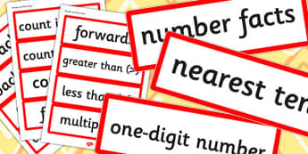 Year 3 2014 Curriculum Maths Number and Place Value Vocabulary