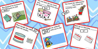 Finish The Sentence And Or But Conjunction Cards - card, sentence