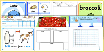 Food KS1 Lesson Plan Ideas and Resource Pack - Food, Pack, KS1