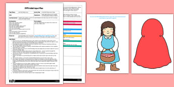 Little Red Riding Hood's Cape EYFS Adult Input Plan and Resource Pack - little red riding hood, cape, pack