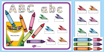 Editable Crayon Class Display Pack - classroom, display, class, color, colour, pencil, rainbow, coloring, colouring, crayon, crayons, cra