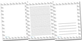 Swan Portrait Page Borders- Portrait Page Borders - Page border, border, writing template, writing aid, writing frame, a4 border, template, templates, landscape