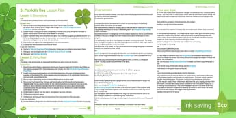 St Patrick's Day Lesson Pack - KS1& 2 St Patrick's Day UK March 17th 2017, St Patrick, Saint Patrick, St Patrick's Day, Saint Pat