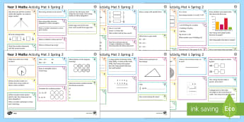 Year 3 Spring 2 Maths Activity Mats - Year 3 Spring 2 Maths Activity Mats, independent maths skills, addition, multiplication, subtraction