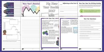 KS2 New Year 2017 Activity Pack - New year, new year's eve, 2017, new year 2017 - New year, new year's eve, 2018, new year 2018