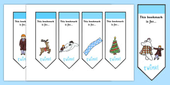 Editable Bookmarks to Support Teaching on The Snowman - bookmark, bookmark template, editable, editable bookmark, the snowman, snowman, snowman bookmark, snowman editable bookmark, book mark, page marker, reward, achievement, reading, reading award,