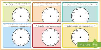 O'Clock, Half Past and Quarter Past Time Playdough Mats English/Mandarin Chinese - OClock Half Past and Quarter Past Time Playdough Mat - mats, playdugh, quater, Timw, time, o'clock,