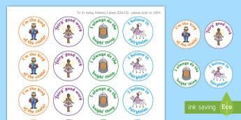Fairytale Theme Stickers - YLF, Australia, Rewards, Behaviour Management, Early Childhood, Early Years, fairytale, book week,Au