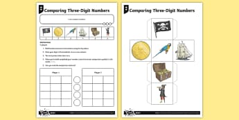 Comparing Three-Digit Numbers Activity - greater than, less than, maths mastery, year 3, fun maths, hundreds, tens, ones, number value, more