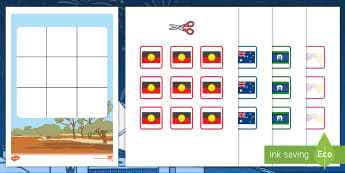 Three in a Row Australia Day Activity -  Australia, EYLF, Foundation, Game, Numeracy, Problem Solving, Counting, celebrations, australia day