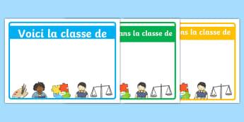 Pancartes de bienvenue modifiables - Rentrée, classe, décoration, accueillir, hospitalité, identité, cycle 1, cycle 2, cycle 3, welco
