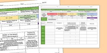 Weekly Plan Template For Maths - template, plan, maths, weekly, subject