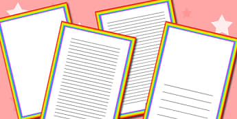 Rainbow Themed Page Borders - rainbow, themed, page, borders