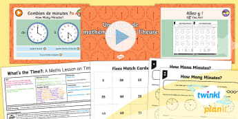 French: What's the Time?: A Maths Lesson on Time Year 4 Lesson Pack 6