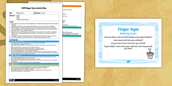 EYFS Bobbing Corks Finger Gym Plan and Prompt Card Pack