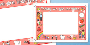 Today We Are Learning Display Sign Red - display sign, red, sign
