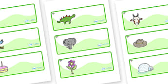 Acacia Themed Editable Drawer-Peg-Name Labels - Themed Classroom Label Templates, Resource Labels, Name Labels, Editable Labels, Drawer Labels, Coat Peg Labels, Peg Label, KS1 Labels, Foundation Labels, Foundation Stage Labels, Teaching Labels