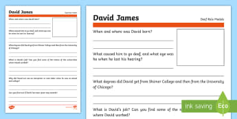 Deaf Role Models David James Research Activity - Deaf, Identity, culture, community, British Sign Language, BSL, hearing impaired, ICT