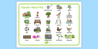 Garden Word Mat - garden, word mat, word, mat, back garden, home, outside, family