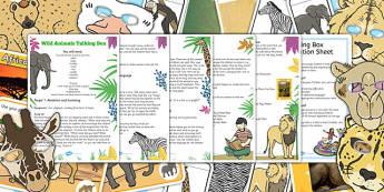 Wild Animals Talking Box Activity Pack - talking, box, activity