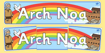 Noah's Ark Display Banner Welsh - Bible, Bible story, Christian, religious education, RE