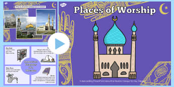 Places of Worship Muslim Mosques KS1 PowerPoint - religion, ks1