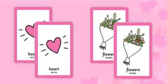 Valentine's Day Pairs Matching Game Polish Translation - polish, valentines, day, pairs