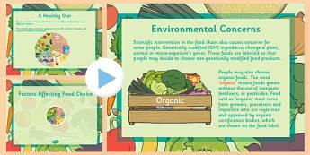 Factors Affecting Food Choice PowerPoint - CfE, Health, Food Choice