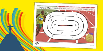 Olympics Spelling Maze Spelling Maze