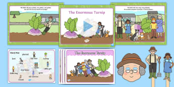 The Enormous Turnip - Listen and Retell Oral Language Activity Pack - Retelling, Speaking, Communicating, Exploring, Using, Understanding, New Language Curriculum, Story,