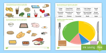 Healthy Eating Divided Plate Sorting Activity English/Polish - Healthy Eating Divided Plate Sorting Activity - food groups sorting activity, healthy eating, health