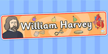 William Harvey Display Banner - william harvey, display, banner, display banner, display header, themed banner, classroom banner, banner display, header