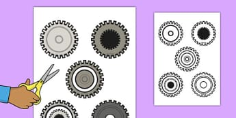 Cog Cut Outs - clock shop, role play, clock, shop, roleplay, cut outs, cog