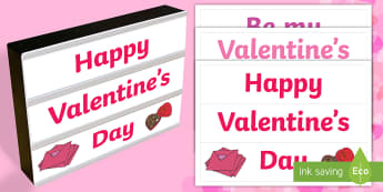 Valentines Day Light Box Inserts - Australia, EYLF, Themes Topics and events, festivals and celebrations, valentines day, light box ins