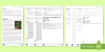 005 Eng Lang EDEXCEL Style P2 Exam Questions Pack - English language GCSE Exam Papers, EdExcel, Paper 2, non fiction, non fiction reading, non  fiction