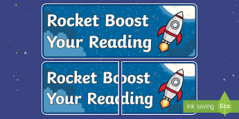 Rocket Boost Your Reading Display Poster - Rocket Boost Your Reading Display Poster - poster, displays, readingdisplay, reding, abnner