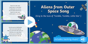 Aliens From Outer Space Song PowerPoint - EYFS, Early Years, KS1, Aliens Love Underpants, Claire Freedman, space, aliens.