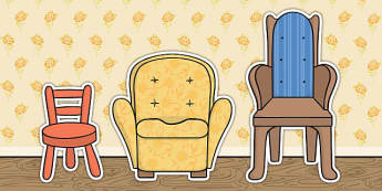 Goldilocks and The Three Bears Chair Cut Outs - cut outs, chair