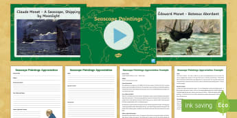 Seascape Paintings Activity Pack - pirates, pirate ships, what are sound stories, sound stories, sound story, seascape, seascape painti