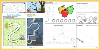 Autumn Themed Pencil Control  Activity Pack